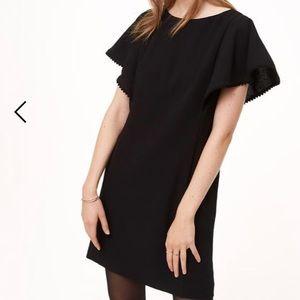 LOFT Little Black Dress with Pom Pom Detail Sz2